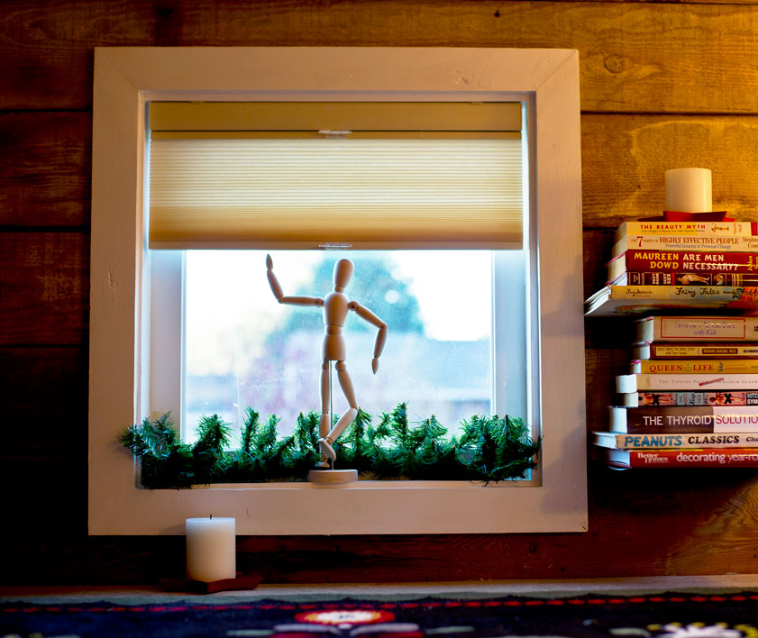 tiny home window with cellular shades